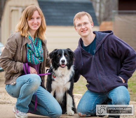 Rosie-Blk & White Bi Female - Is with Kinney & Family in MN