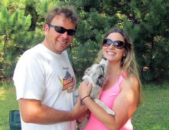 LeLu - Blue Merle Girl - Is with to Avellone Family in WI