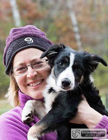Haley-Black and White Tri Girl - Is with Linda in MN